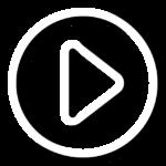 Bouton play pour vidéo promotionnelle